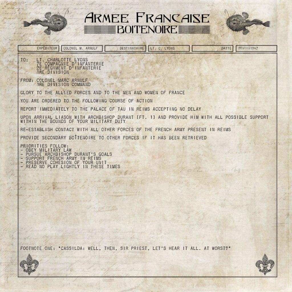 Boitenoir Message example